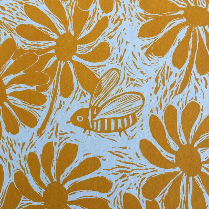 Lino print Bumblebee